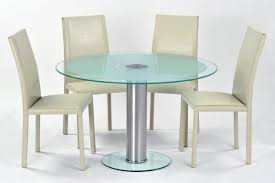 contemporary cream leather dining table chairs