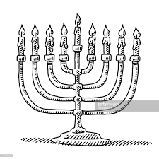 menorah candles hanukkah menorah candles drawing vector getty images