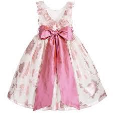 macfarlane pink u0027bonnie u0027 ballerina length dress u0026 silk sash