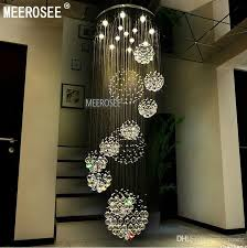 hall and stairs lighting modern large crystal ceiling light fixture for lobby staircase