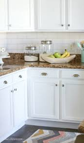 backsplash kitchens kitchen appealing fascinating faux subway tile wallpaper