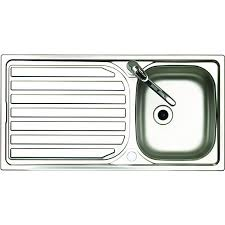 Wickes Single Bowl Reversible Kitchen Sink Tap Pack Stainless - Kitchen sink images