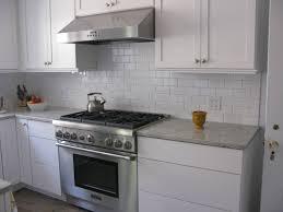 Interior  Houzz Kitchen Backsplash Ideas Grey Kitchen With White - White subway tile backsplash ideas