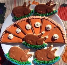 thanksgiving cookies recipes turkey platter cookies mara u0027s flour power