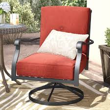 Patio Dining Chairs With Cushions Darby Home Co Hanson Swivel Patio Dining Chair With Cushions