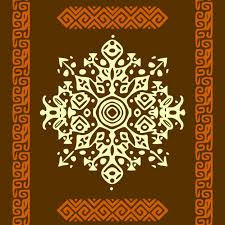 background with ethnic ornaments vector free