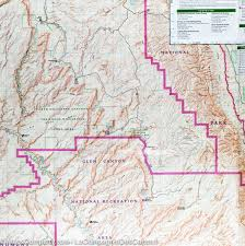 Utah Map National Parks by Trail Map Of Canyons Of The Escalante Utah 710 National