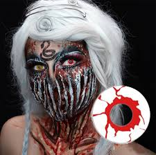 cheap halloween contact lens selling pure black white blinds mesh crazy contacts lens cheap