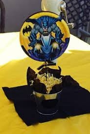 Batman Baby Shower Decorations Batman Chevron Centerpieces Sweetdeliciouscakes Sweet Addiction
