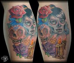 day of the dead piece tattoos