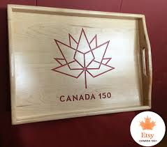 wedding gift amount canada canada 150 wood serving tray coffee table tray unique