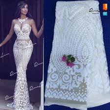 oleic styles in nigeria african white sequins net lace fabric 2017 style nigeria sequined
