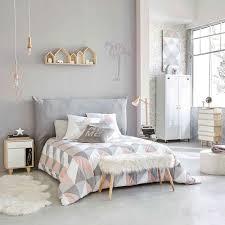 chambre gris perle housse de tête de lit 140 gris perle flamants roses deco murale