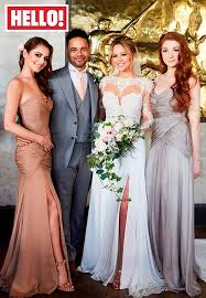 hello wedding dress hello kimberley walsh veil and berta bridal