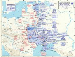 Ww2 Europe Map Map Of Leningrad And Ukraine Offensives December 1943 April 1944