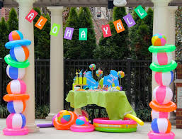 home party decoration ideas interior design creative luau themed party decorations