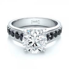 white and black diamond engagement rings black and white diamond engagement rings inner voice designs