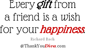 thank you quotes for gifts presents treats keepsakes