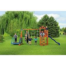 Metal Backyard Playsets by Swing Sets Playsets Kmart