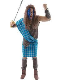 gorilla halloween mask mens scotsman braveheart scottish tartan fancy dress costume ebay