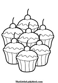 of cupcakes coloring page free download