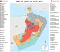 map of oman map pack oman 2017 the gas year