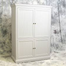 Tv Armoire With Doors And Drawers Custom Freestanding Example 23 White Television Armoire