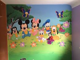 painting kids wall murals disney kids painted wall mural download