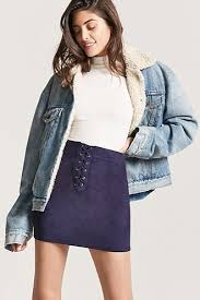 up skirt terry lace up mini skirt forever21