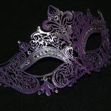 purple masquerade masks purple magenta and black masquerade mask from the crafty