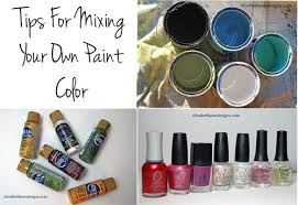 tips for mixing your own paint color