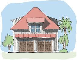 sparrow garage u2014 flatfish island designs u2014 coastal home plans