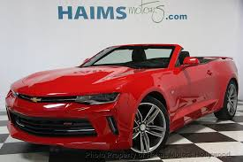 chevrolet camaro used 2017 used chevrolet camaro 2dr convertible lt w 1lt at haims