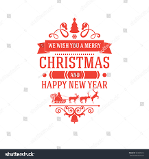 merry new year greetings classic stock vector 523999213