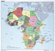 Map Of Africa Blank by Large Political Map Of Africa With Major Cities U2013 1985 Vidiani