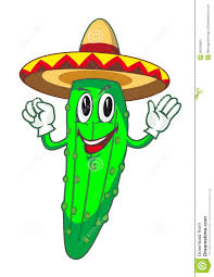 cartoon sombrero cartoon cucumber stock vector image 46030969