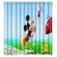 Mickey Mouse Room Decor Bathroom Appealing Mickey Mouse Shower Curtain For Cute Bathroom
