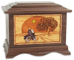 motorcycle urns heartland motorcycle rider with 3d inlay walnut wood cremation urn