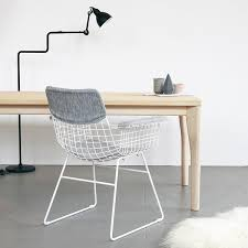 White Wire Chair Metal Wire Dining Chair With Arms White U2013 Industrial Garage
