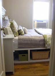 ana white farmhouse storage bed with hinged footboard diy projects