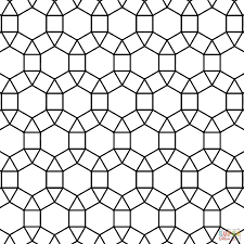 free tessellation patterns to print inside coloring pages eson me