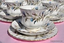 royal albert brigadoon vintage 21 piece tea set c 1963