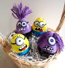 cool easter ideas minion easter eggs i made for the grandkids crafty stuff