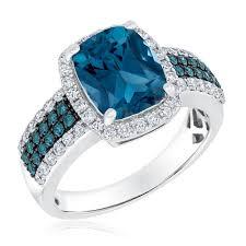diamonds rings com images London blue topaz blue diamond and diamond ring 3 4ctw item jpg