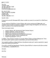 application architect cover letter