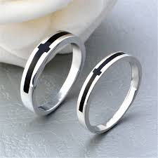 silver rings price images Price for a pair silver color black cross couple rings lover 39 s jpg
