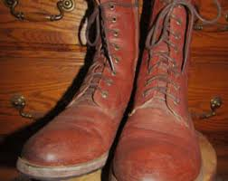vintage womens boots size 11 side zipper boots etsy