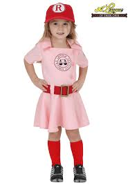 toddler girl costumes toddler a league of their own dottie costume