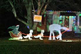 wars christmas decorations merry sithmas how we made our own wars christmas lawn