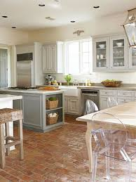 Red Cabinets In Kitchen by Fresh Ideas For Kitchen Floors Brick Flooring Marble